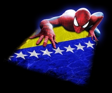 spiderman BOSNIA AND HERZEGOVINA Flag decal sticker