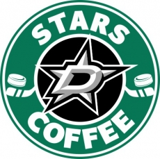 dallas stars starbucks coffee logo iron on transfer