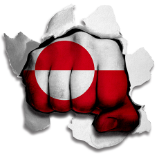 hulk GREENLAND Flag decal sticker