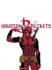 Houston Rockets Deadpool Logo decal sticker