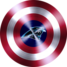 captain american shield with carolina panthers logo iron on transfer
