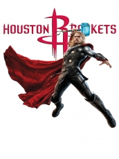 Houston Rockets Thor Logo decal sticker