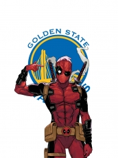 Golden State Warriors Deadpool Logo decal sticker