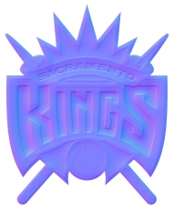 sacramento kings 1995-pres primary colorful embossed logo iron on transfer
