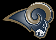 los angeles rams 2016-pres primary plastic effect logo decal sticker