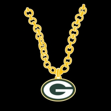 Green Bay Packers necklace logo iron on transfer