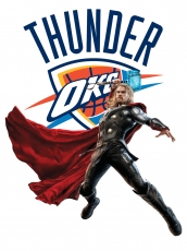 Oklahoma City Thunder Thor Logo iron on sticker