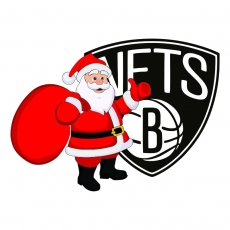Brooklyn Nets Santa Claus Logo iron on transfer