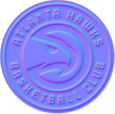 atlanta hawks 2016-pres primary colorful embossed logo iron on transfer