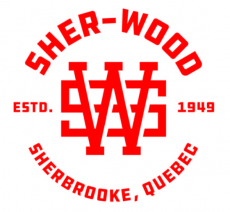Sher Wood Quebec red logo iron on transfer