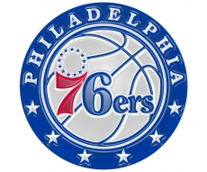 philadelphia 76ers 2016-pres primary plastic effect logo decal sticker