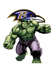 Baltimore Ravens Hulk Logo iron on sticker