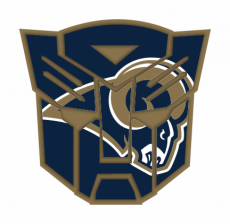 Autobots Los Angeles Rams logo iron on transfer