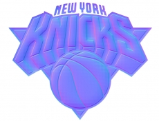 new york knicks 2012-pres primary colorful embossed logo iron on transfer