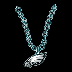Philadelphia Eagles necklace logo iron on transfer