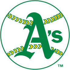 Oakland Athletics 1968-1970 Primary Logo iron on transfer