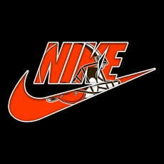 Cleveland Browns nike logo decal sticker