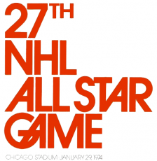 NHL All-Star Game 1973-1974 iron on transfer