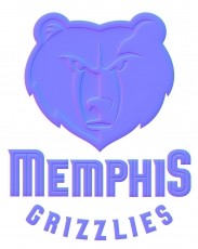 memphis grizzlies colorful embossed logo iron on transfer