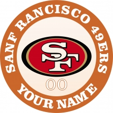 San Francisco 49ers iron on transfer