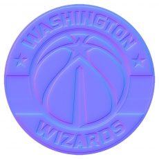 washington wizards 2015-pres primary colorful embossed logo iron on transfer