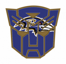Autobots Baltimore Ravens logo iron on transfer