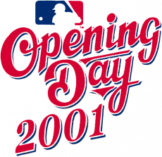 MLB Opening Day 2001 iron on transfer