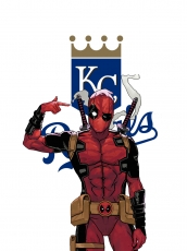 Kansas City Royals Deadpool Logo iron on sticker