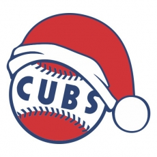 Chicago Cubs Baseball Christmas hat decal sticker
