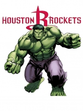 Houston Rockets Hulk Logo decal sticker