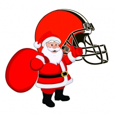 Cleveland Browns Santa Claus Logo decal sticker