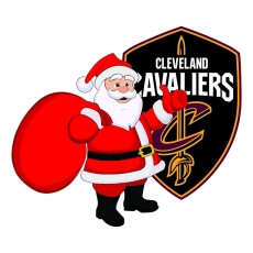 Cleveland Cavaliers Santa Claus Logo iron on transfer
