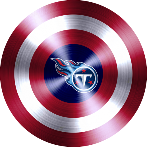captain american shield with tennessee titans logo decal sticker