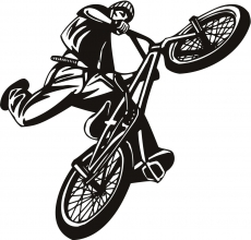 BMX JumpBike iron on transfers