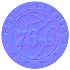 philadelphia 76ers 2016-pres primary colorful embossed logo iron on transfer