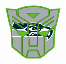 Autobots Seattle Seahawks logo iron on transfer