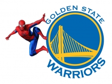 Golden State Warriors Spider Man Logo decal sticker