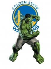 Golden State Warriors Hulk Logo decal sticker