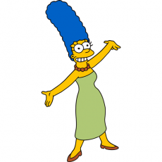 Marge Simpson 1 decal sticker