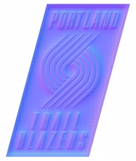 portland trail blazers 2005-pres primary colorful embossed logo decal sticker