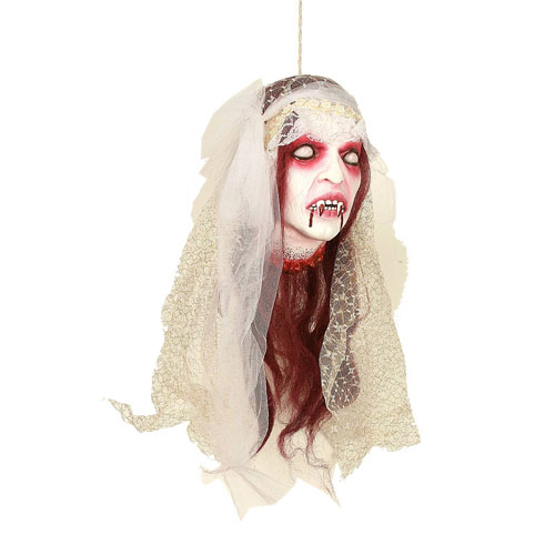 Hanging Vampire Bride Head decals stickers