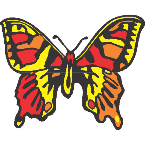Butterfly DIY decals stickers version 21