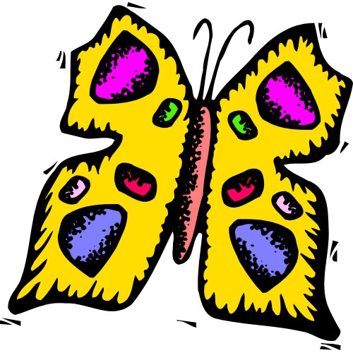 Butterfly DIY decals stickers version 26