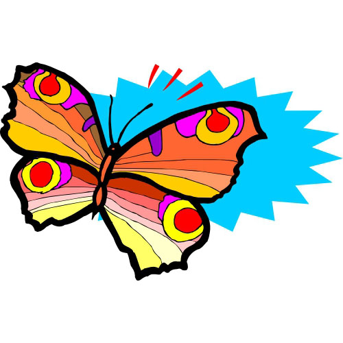 Butterfly DIY decals stickers version 28