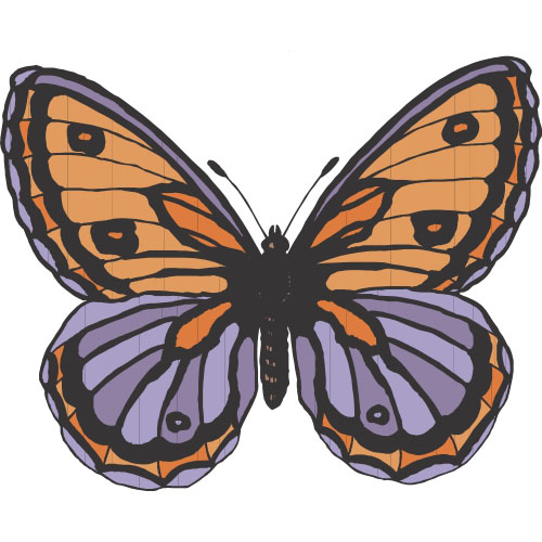 Butterfly DIY decals stickers version 4