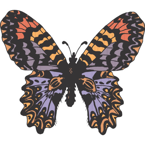 Butterfly DIY decals stickers version 6