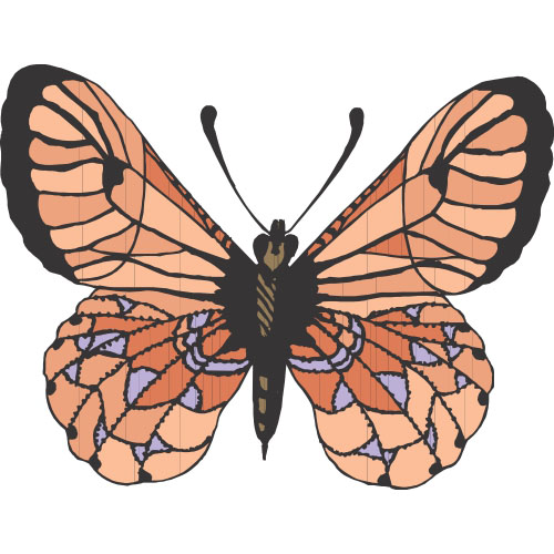Butterfly DIY decals stickers version 9