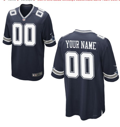 Dallas Cowboys Custom Letter and Number Kits For New Team Color Jersey
