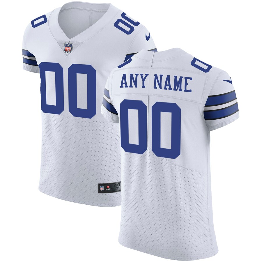 Dallas Cowboys Custom Letter and Number Kits For White Jersey