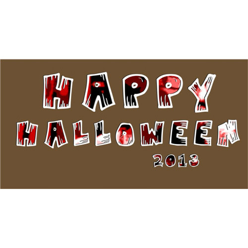 Happy Halloween 2013 Fabric heat transfer